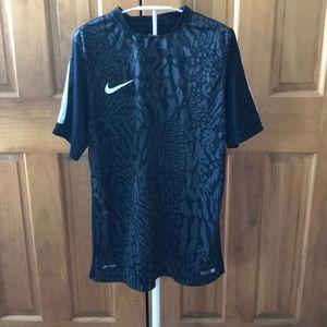 Nike Men's Soccer Shirt Dri-Fit Medium Black Grey